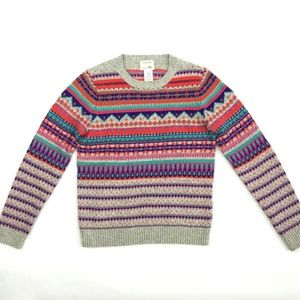 Crewcuts Girls Merino Wool Blend Fair Isle Sweater